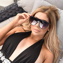 Retro Oversized Sunglasses For Women Flat Top Larg
