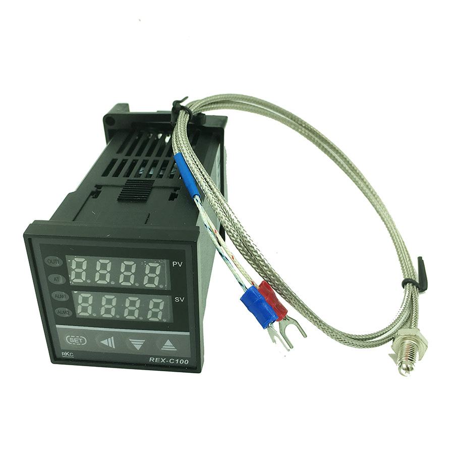 цена на REX-C100 Digital PID Temperature Control Controller Thermostat Relay output 0 to 400C with K-type Thermocouple Probe Sensor