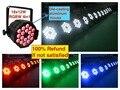 8 шт./лот, LED par 18x12 Вт RGBW 4in1 Quad Свет Литья Алюминия партии светодиодный прожектор dj проектор led wash освещение этапа dmx