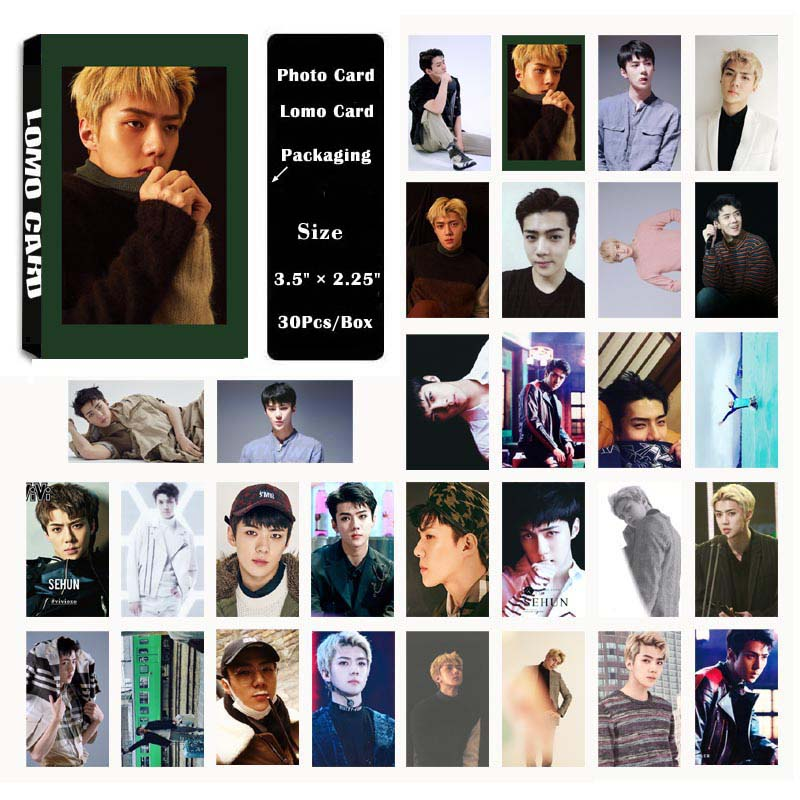 Jewelry Findings & Components Yanzixg Kpop Exo Album Sehun Self Made Paper Lomo Card Photo Card Poster Hd Photocard Fans Gift Collection Jewelry & Accessories