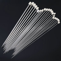 Stainless Steel Single Pointed Knitting Needles Knitting Tools 22pcs 11 Sizes 13 6 34 5cm Length