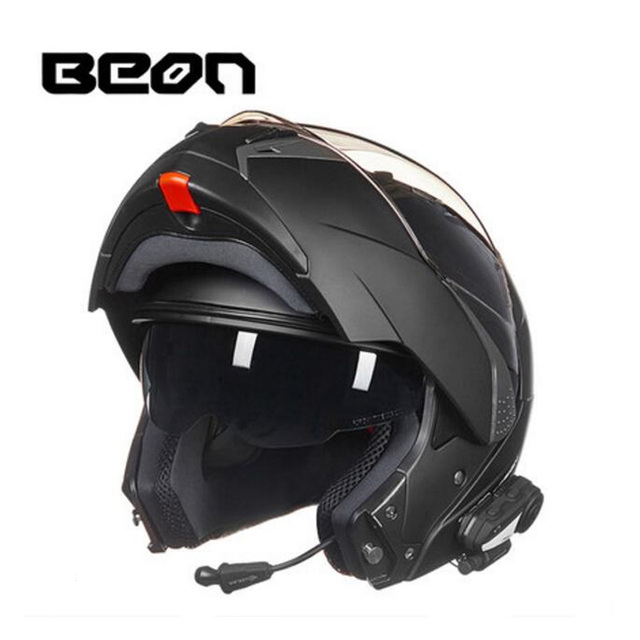 2019 New Netherlands BEON undrape face motorcycle helmet open face motorbike helmets with Bluetooth made of ABS PC lens visor 1