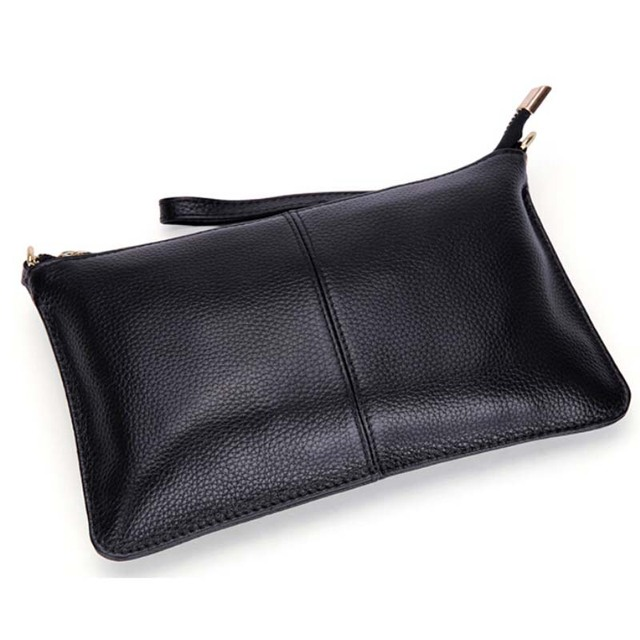 2017 Genuine Leather Women Clutch Bags Cowhide Envelope Organizer Purse Evening Party Handbags Ladies Small Shoulder Beautician