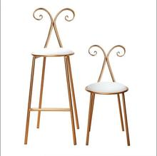 Simple high chair iron butterfly nordic dining