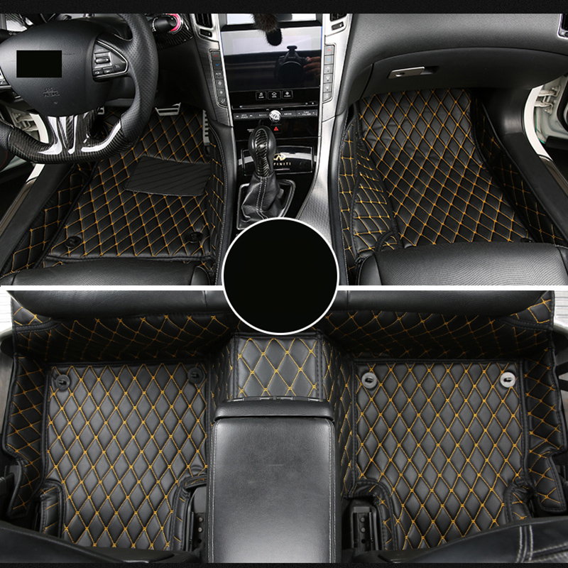 lsrtw2017 fiber leather car interior floor mat for infiniti q50 2013 2014 2015 2016 2017 2018 2019 Nissan Skyline for infiniti q50 q50s 2014 2015 2016