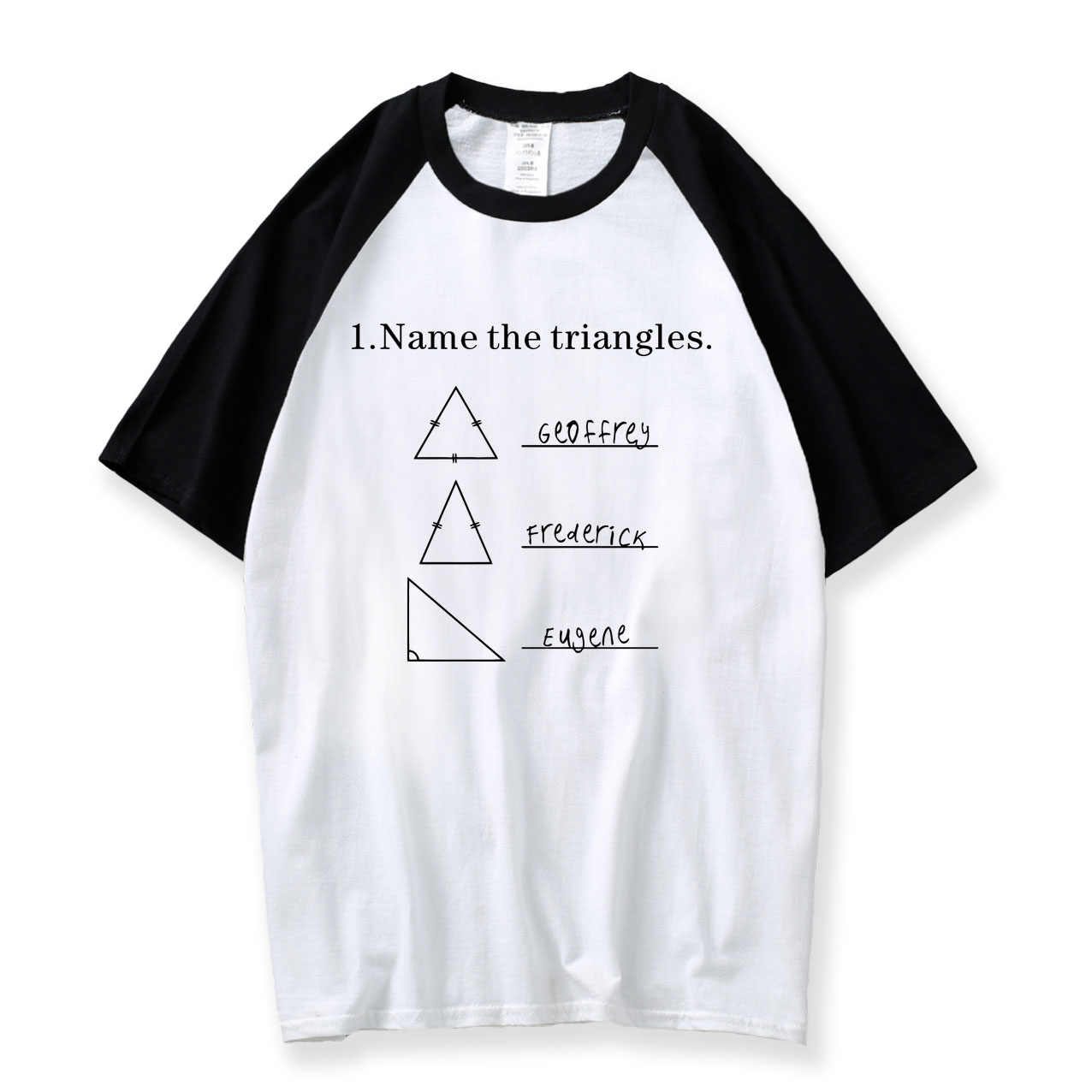 d2f10691 Detail Feedback Questions about Name The Triangles Funny Math T Shirts  Sarcasm Novelty I Love Math Tee For Guys 2018 Summer Raglan Shirt Men  Cotton Mens T ...