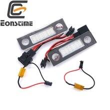 Eonstime 2 UNIDS 18 LED License Plate Lámpara de Luz para Skoda Octavia II Facelift pre-facelift 2003-2012 5J Roomster 2006-2010