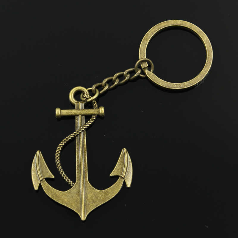 Chaveiro nova Moda 55x40 milímetros sea anchor Pingentes DIY Homens Jóias Cadeia Chave Do Carro Anel Titular Souvenir Para presente