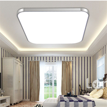 Creative Square Style LED Ceiling Light Modern Gold/silver Cold White Ceiling lamp for living room kids room aisle Home Foyer