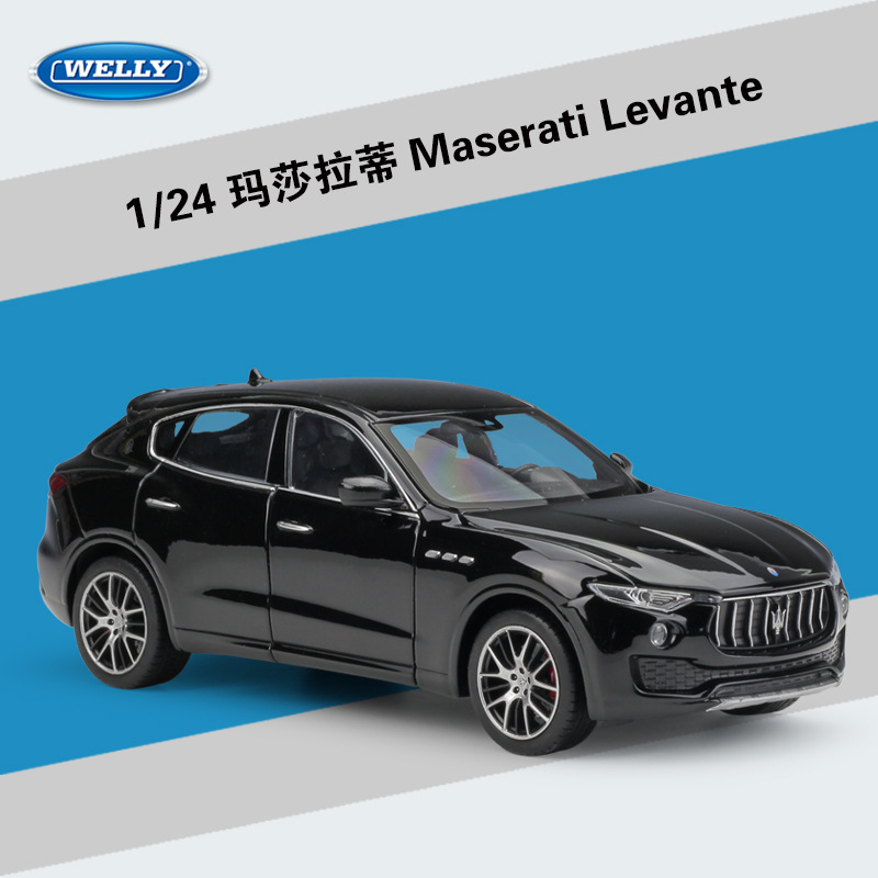 WELLY 1:24 Scale Diecast Model Car Maserati Levante SUV Metal Toy Car Alloy Classic Car For Kids Toys Gift Vehicles Collection new year gift 1957 corvette 1 18 big metal classic car vehicle scale model collection alloy luxury delicate present toys diecast