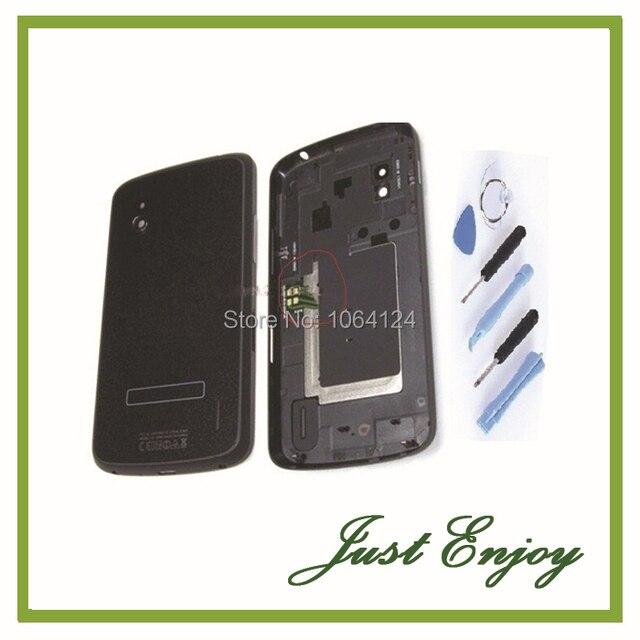 Novo para lg google nexus 4 e960 voltar porta da bateria tampa Da Caixa Com NFC Antena Peças de Reposição 2 Cores Livre ferramentas