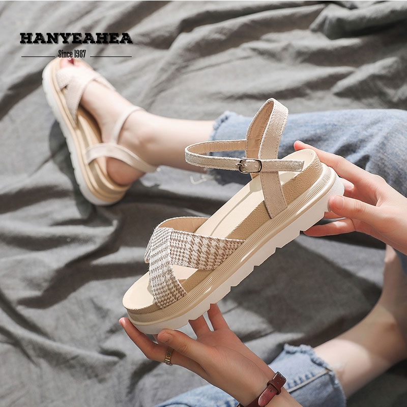 Muffin Bottom Sandals Fashion Sweet Leisure Women Concise