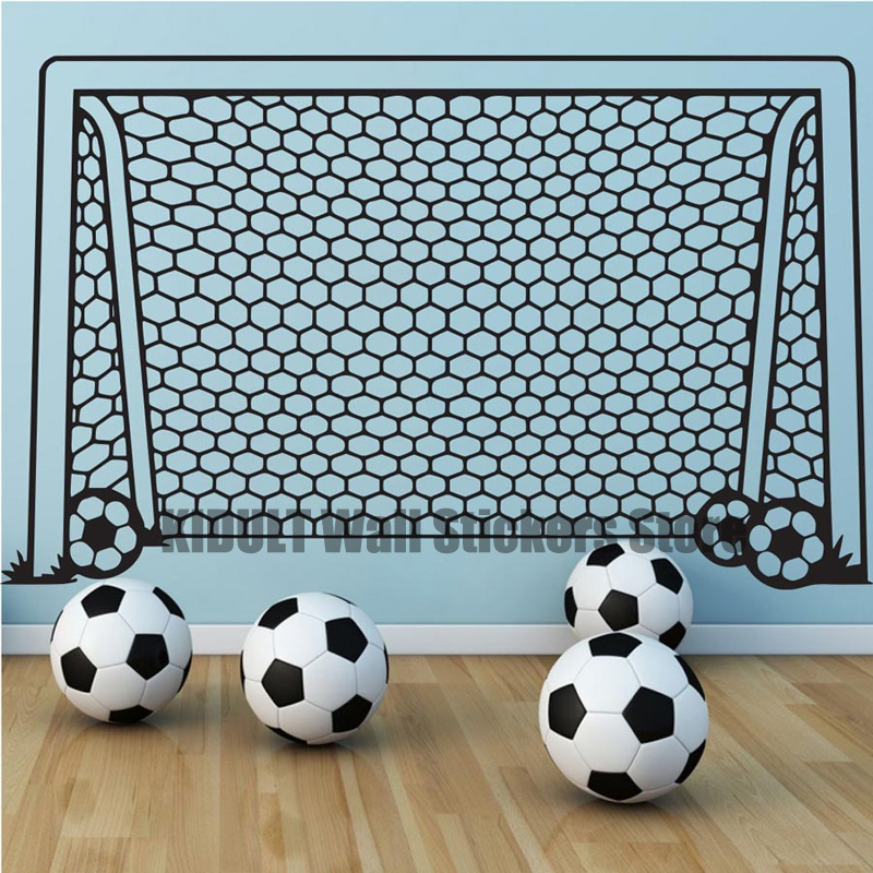 Childrens Room Bedroom Living Room Flat Wall Waterproof Vinyl Modern Sports Football Door Pattern Background Personality Wall S ...