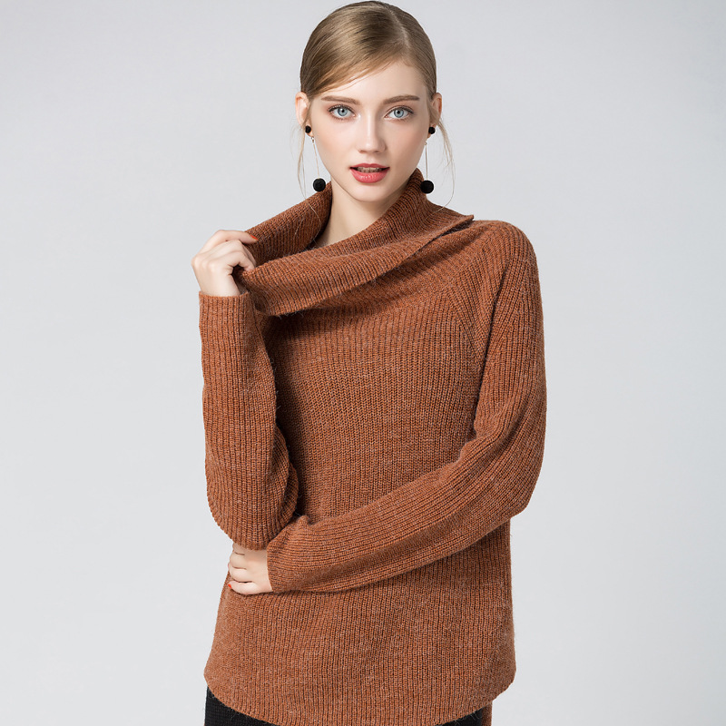 Turtleneck Sweater Women Simple Design Solid Knit Long Sleeves Ladies Casual Pullovers Knitwear 2017 New Fashion Look in Pullovers from Women 39 s Clothing