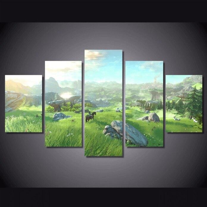 Hd Print 5pc The Legend Of Zelda Twilight Princess Canvas