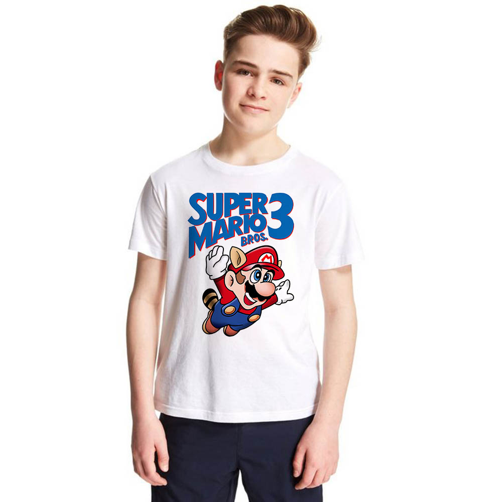 kids teens boys girls tops tee shirt classic game design Super Mario bros 3 child unisex t-shirt toddler infant summer clotheskids teens boys girls tops tee shirt classic game design Super Mario bros 3 child unisex t-shirt toddler infant summer clothes