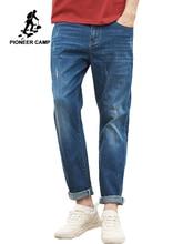 Pioneer obóz męskie jeansy męskie znajdujących się w trudnej sytuacji moda Denim Jeans mężczyźni regularne Fit spodnie jeansowe dla mężczyzn dżinsy Masculina Hombre ANZ908068