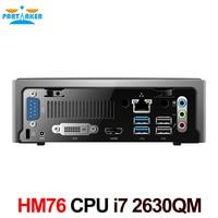 Mini pc windows desktop computer met intel quad-core i7 2630qm 8 threads HM76 Express Slot type FCPGA988 4G RAM 128G SSD
