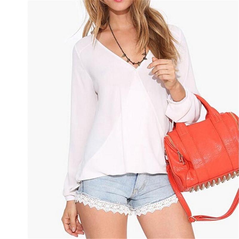 Ishowtienda Women Blouses Summer 2018 Casual Solid Bandages Off Shoulder Full Sleeve Tops Blouse Ladies Blouses Koszula Damska Harmonious Colors Blouses & Shirts
