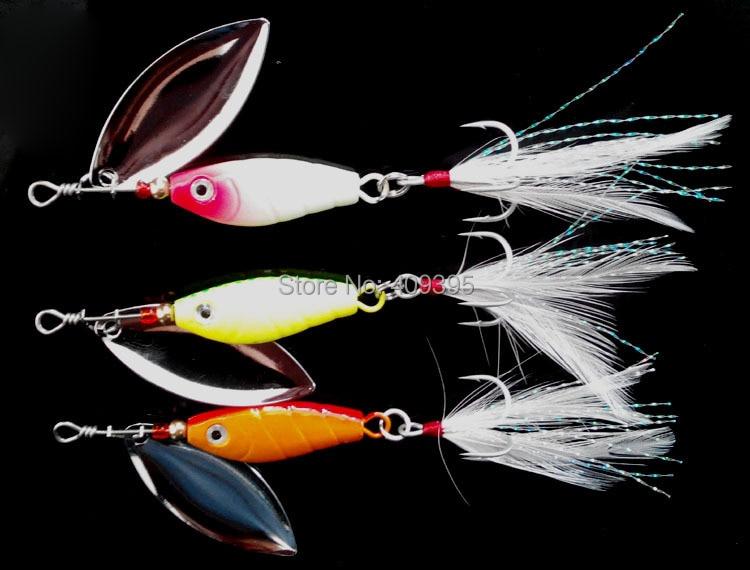 5pcs 21g/15g/10g Bass lure Long casting Metal lure Fishing spinner Heavy fishing lure Metal VIB Good quality Free shipping