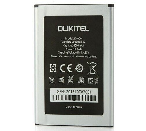 Nouveau Oukitel K4000 Batterie D'origine de Haute Qualité 4600 mAh Batterie de Remplacement Pour Oukitel K4000 Téléphone Intelligent