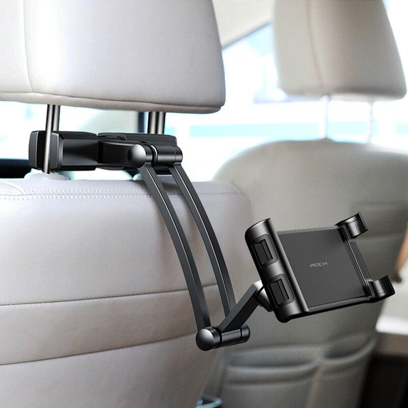 4.5-10.5 pouces Voiture appui-tête monté Support pour téléphone réglable siège arrière Support de tablette pour Iphone Ipad Support téléphone Voiture