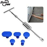 Super PDR Tools Kit For Car Dent Puller Slide Hammer Dent Puller Suction Cup 5Pcs Glue Tabs Pulling Dent Removal Puller PDR Tool