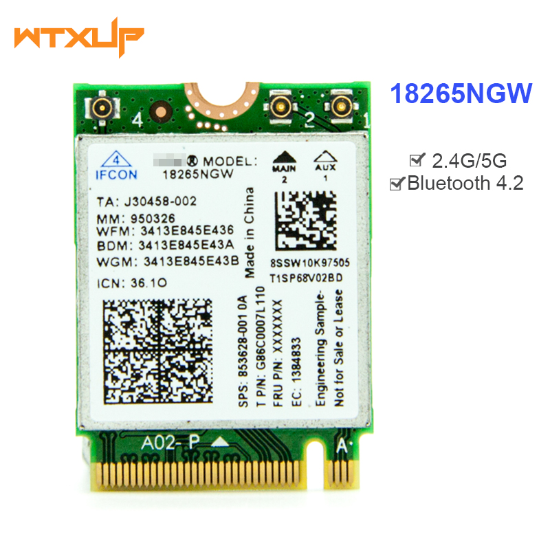 Tri Band Wireless Ac 18265 Wifi Adapter 2 4g  5g Bt 4 2 For Intel 18265ngw Bluetooth 4 2 Wifi