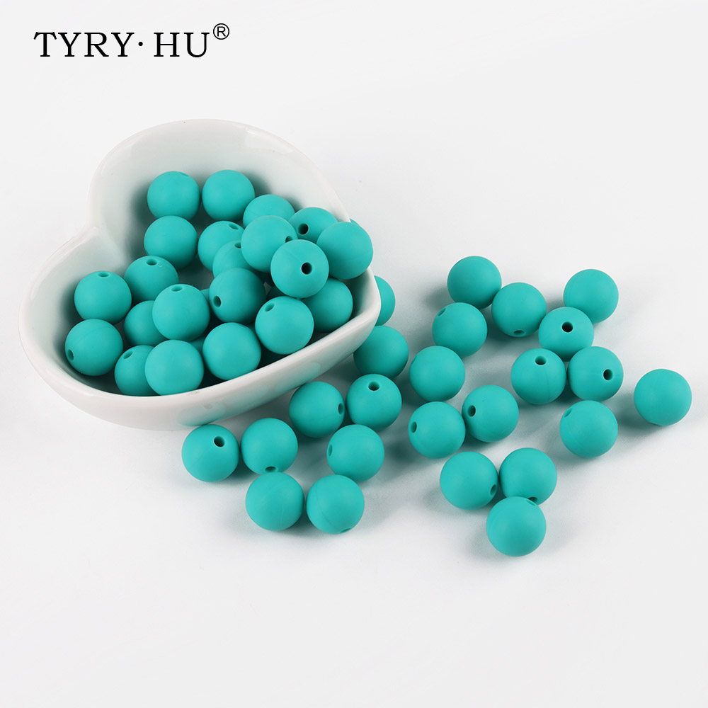 10pcs/lot Silicone Beads Round 12mm Baby Teething Teether Chew Beads For Pacifier Clips Chew Teether BPA Free Silicone