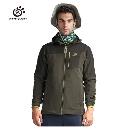 Men Softshell Jacket Joining Together Wear resisting Warm Waterproof Outdoor Jacket Adventure Camping Climbing Hiking Jacket