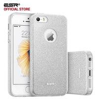 Case For IPhone SE ESR Hybrid Three Layer Case Ultra Thin Light Weight Girl Fashion Shining