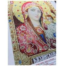 RUBOS Icon Matrona Moskovskaya Diamond Embroidery Religion Diamond Mosaic Religious DIY 5D Craft Crystal Bead Drill Decor Gift
