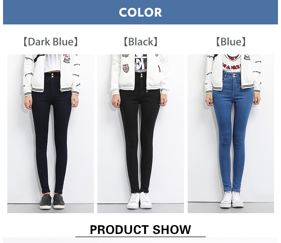 HTB1YvyVJYGYBuNjy0Foq6AiBFXab - LEIJIJEANS Plus Size button fly women jeans High Waist black pants women high elastic Skinny pants Stretchy Women trousers