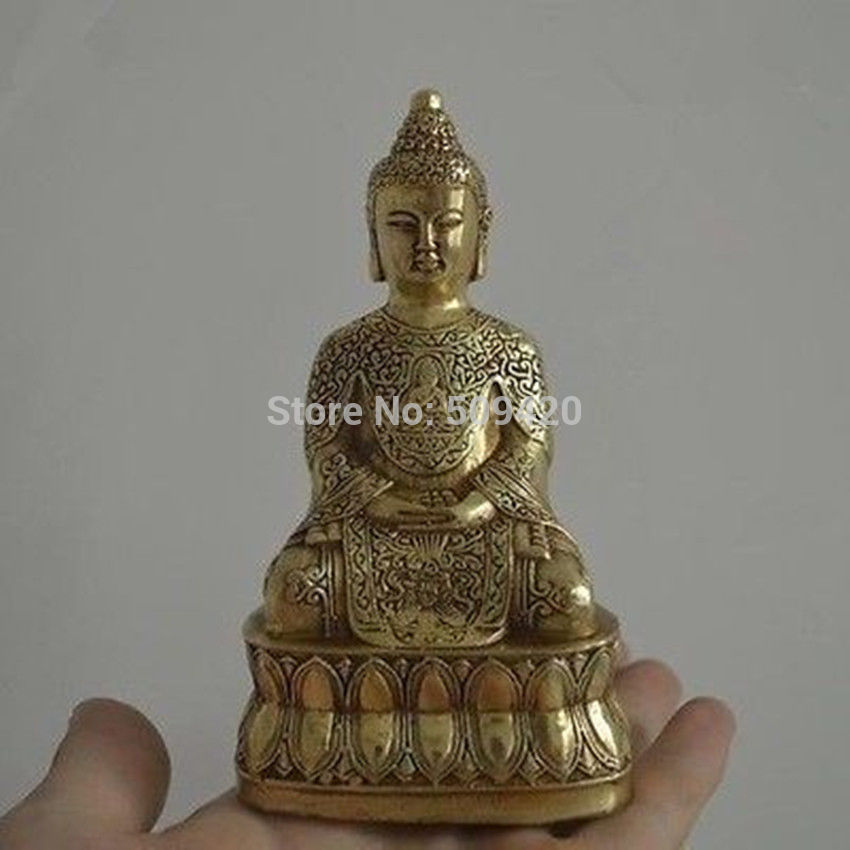 Rare Tibet copper Amitabha Guanyin exquisite Buddha Statue 10cm|statue material|statue|buddha statue bronze - title=