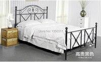 Modern, Ferro forjado metal cama, Simples ou dupla. Largura ( 1 m 1.8 m ) * 2 metros de comprimento pode ser personalizado
