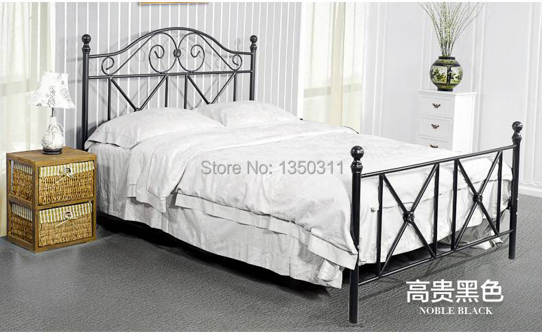 Modern Wrought Iron Metal Bed Single Or Double Width 1 M To 1 8 M 2 Meters In Length Can