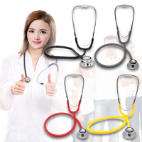 Portable Dual Head EMT Clinical Stethoscope Medical Auscultation Device Random Color