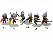 ELBCOS Project Origin Yi Zed Lucian Leona Fiora Laurent yasuo 8cm/3'' Q Version PVC Action Figures Model Toys