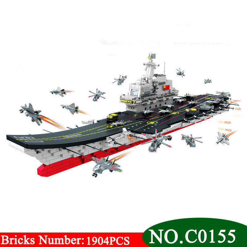 BIG SIZE C0155 1904PCS Military series carrier Building Blocks set Nuclear submarine frigate DIY bricks Boys Toys Gifts new big size 40 40cm blocks diy baseplate 50 50 dots diy small bricks building blocks base plate green grey blue