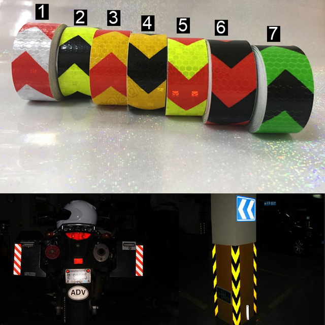 25mm x 5m Safety Mark Reflective tape stickers car-styling Self Adhesive Warning Tape Automobiles Motorcycle Reflective Film 1