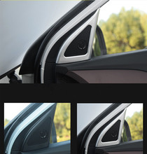 Keao For Creta Hyundai ix25 door speaker cover interior mouldings chrome decoration styling ABS products accessory