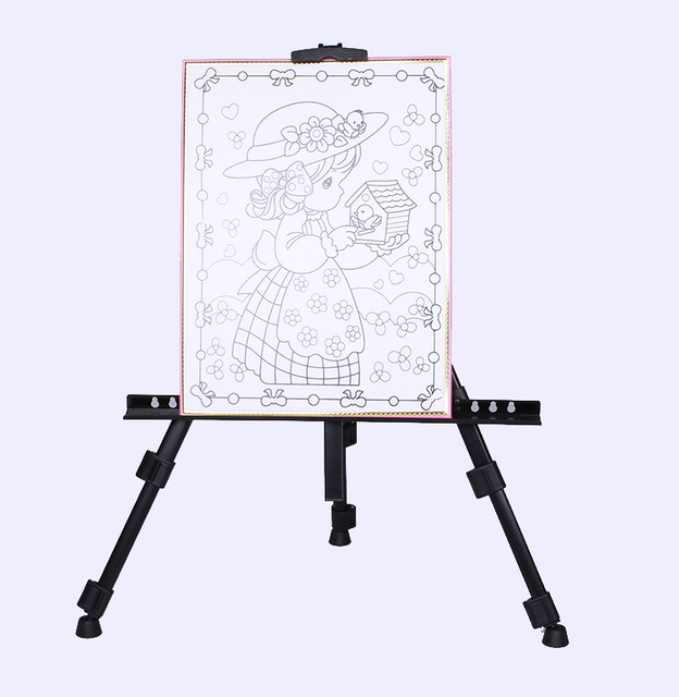 cheap portable folding metal tripod easel painting drawing board