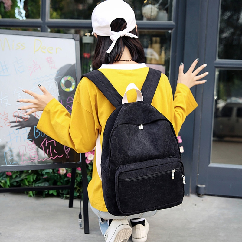 Corduroy schoolbag backpack 9122 for students Student Corduroy Backpack School Bag for Teenage Girls Travel Casual Daypack 2018 girls last tour backpack shoujo shuumatsu ryokou schoolbag for middle school students