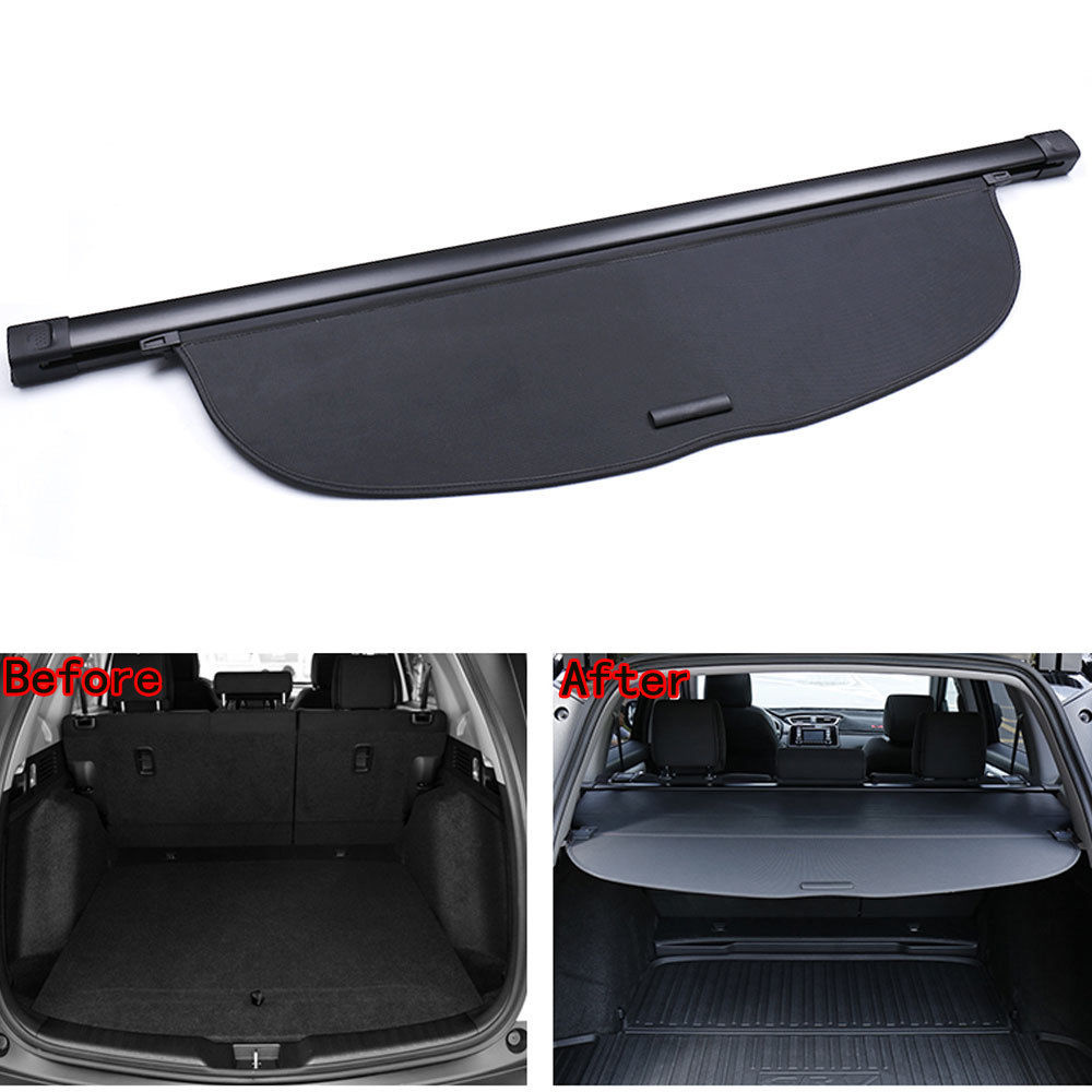 For Honda CRV CR-V 2017 2018 Rear Trunk Cargo Shade Cover Security Shield Cover Trim Car Tidying Shelf Privacy Guard Car Styling interior black rear trunk cargo cover shield 1 pcs for kia sportage 2016 2017