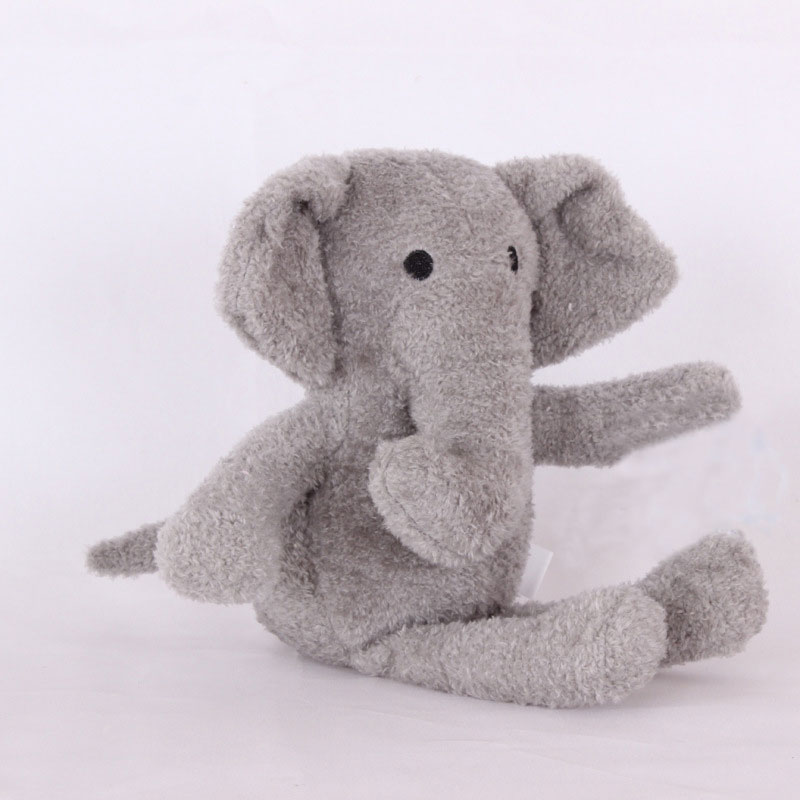 Lovely Elephant Plush Toys Cartoon Gray Elephant Ornaments Stuffed