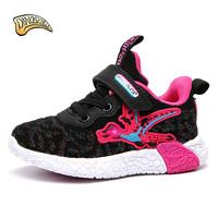 Dinoskulls Kids Shoes for Girls Glowing Sneakers Girl Led Light Up Shoes Toddler Running Sneakers Mesh Breathable Tenis Infantil
