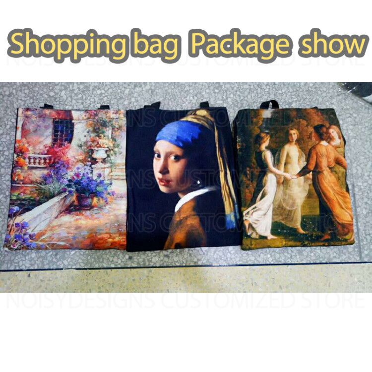 shopping bag famous painting