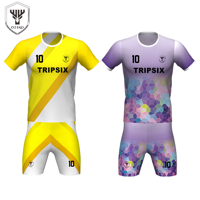 93e7ca5cb new yellow color soccer jersey design football shirts kits sublimation  women s soccer uniform