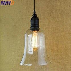 IWHD Americani in Stile Retrò Vintage Lampade A Sospensione Loft Industriale LED Lampada A Sospensione Camera Da Letto cucina Lamparas Casa Apparecchio di Illuminazione