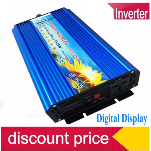 1500W zuivere sinus omvormer Free shipping 1500W Pure Sine Wave Power Inverter, 12v to 230v power converter